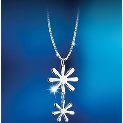 Silver-Plated Daisy Pendant