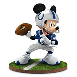 Indianapolis Colts Mickey Mouse Quarterback Hero Figurine