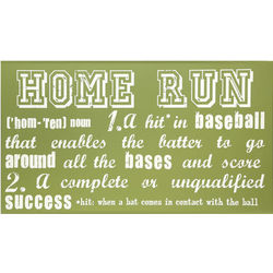 Home Run Definition Sign