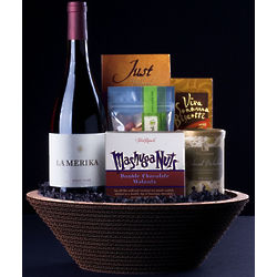 Artisan Wine and Snack Gift Basket