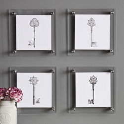Metallic Letterpress Keys Wall Hangings