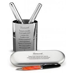 Teamwork Pen and Pen Stand