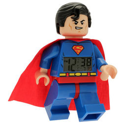 Superman Lego Minifigure Alarm Clock