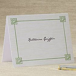 Personalized Celtic Knot Note Cards & Envelopes