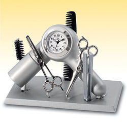Hair Stylist Clock