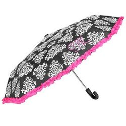 Damask Personalized Initial Ribbon Umbrella