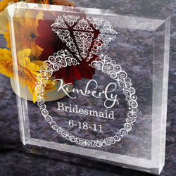 Personalized Diamonds Are Forever Bridal Party Paperweight