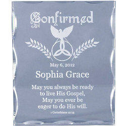Personalized Confirmation Acrylic Block