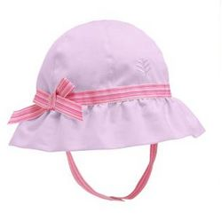 Girl's Infant Chin Strap Hat with UPF