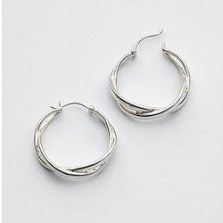 Sterling Silver Classic Infinity Hoop Earrings