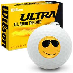 Smiley Face Shades Ultimate Distance Golf Balls