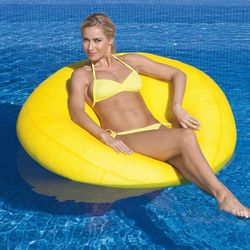 Yellow Disc Beanbag Pool Float