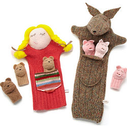 Recycled Cashmere Storybook Puppets