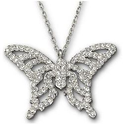 Swarovski Nightingale Butterfly Pendant
