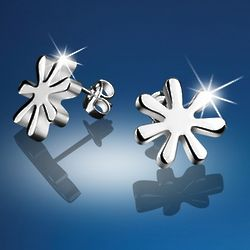 Silver-Plated Daisy Earrings
