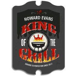Grill King Custom Wooden Sign