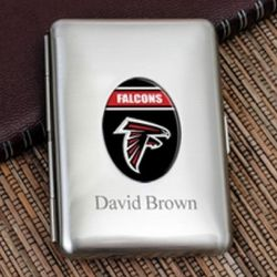NFL Engravable Business Card Case
