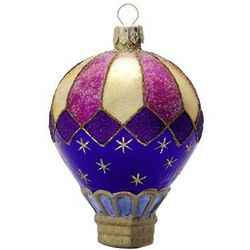 Celestial Blown Glass Christmas Ornament