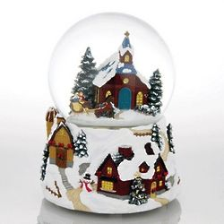 Winter Wonderland Carriage Ride to Church Snow Globe