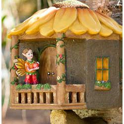 Mountable Fairy Sunflower Tree House Figurine