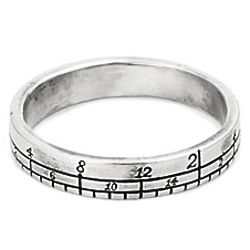 Sterling Silver Ruler Ring