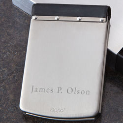 Zippo Stainless Steel and Rubber Wallet