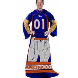 Denver Broncos Adult Throw Blanket Uniform