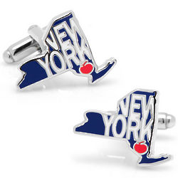 State of New York Cufflinks
