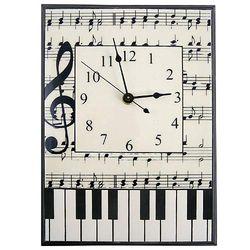 Music Notes Ceramic Wall Clock