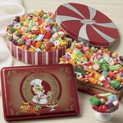 Old-fashioned Christmas Candy Gift Tin