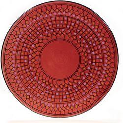 """Tunisian Bordeaux 15"""" Serving Platter"""