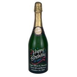 Happy Birthday Etched Wine Bottle Findgift Com