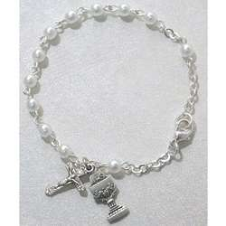 Pearl Bead Communion Bracelet