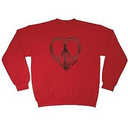 Personalized Peace Heart Sweatshirt