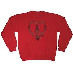Personalized Peace Heart Sweatshirt