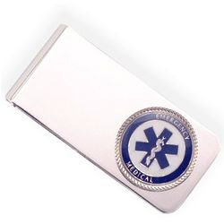 EMT Engraved Silver Money Clip