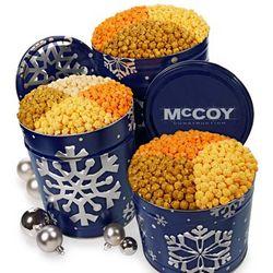 Snowy Night 3 1/2 Gallon Popcorn Tin