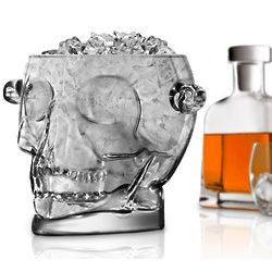 Skull of Doom Glass Ice Bucket