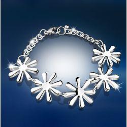 Silver-Plated Daisy Bracelet