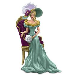 Thomas Kinkade Sitting Pretty Woman Figurine