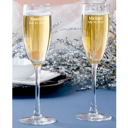 Classic Personalized Toasting Flutes