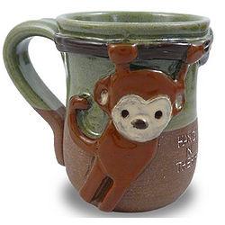 Hang In There Handmade Monkey Mug