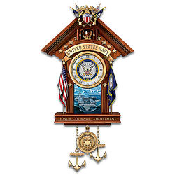 United States Navy Wall Clock with Music