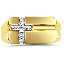 Men's Cross Diamond Ring