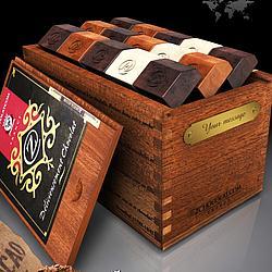 Temptation Chocolate in a Mahogany Box