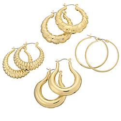 Hollow Fashion Hoop Earring Set
