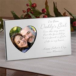 Daddy's Girl Engraved Heart Frame