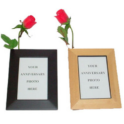 5th Anniversary Picture Frame with Wood Rose