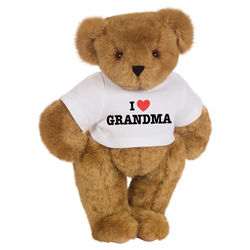 "15"" 'I Heart Grandma' Personalized T-Shirt Bear"