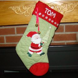 Ho Ho Ho Santa Personalized Christmas Stocking